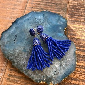 Baublebar Blue Piñata Tassel Earrings
